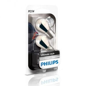 Unser PY21W-Test Tipp: 12496SVB2 PY21W SilverVision von Philips
